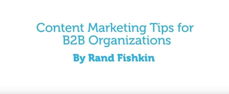 Embed Video: Content Marketing Tips for B2B Marketing