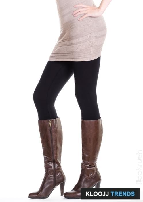 Sexy brown leather high heel stiletto boots isolated