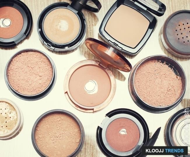Set of make-up  foundations products, different shades and textures.