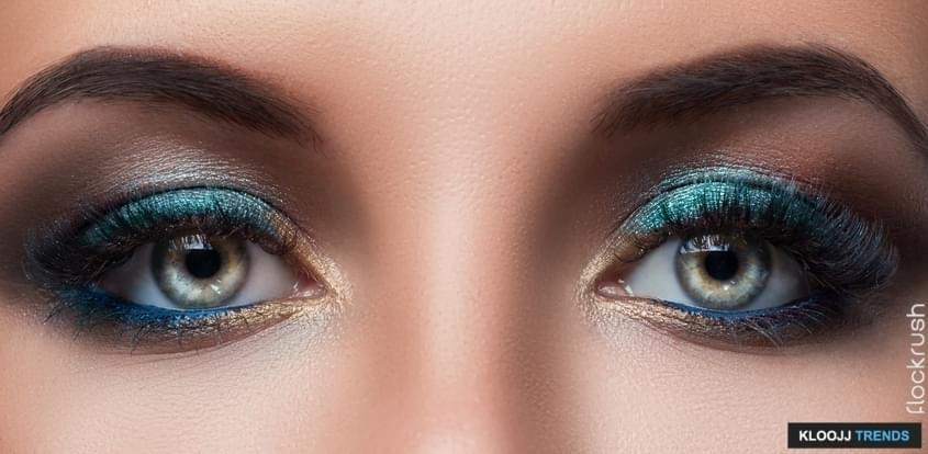 Close up of female eyes with beautiful make-up
